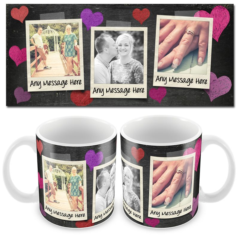 Chalk 3x Photo Mug & Text