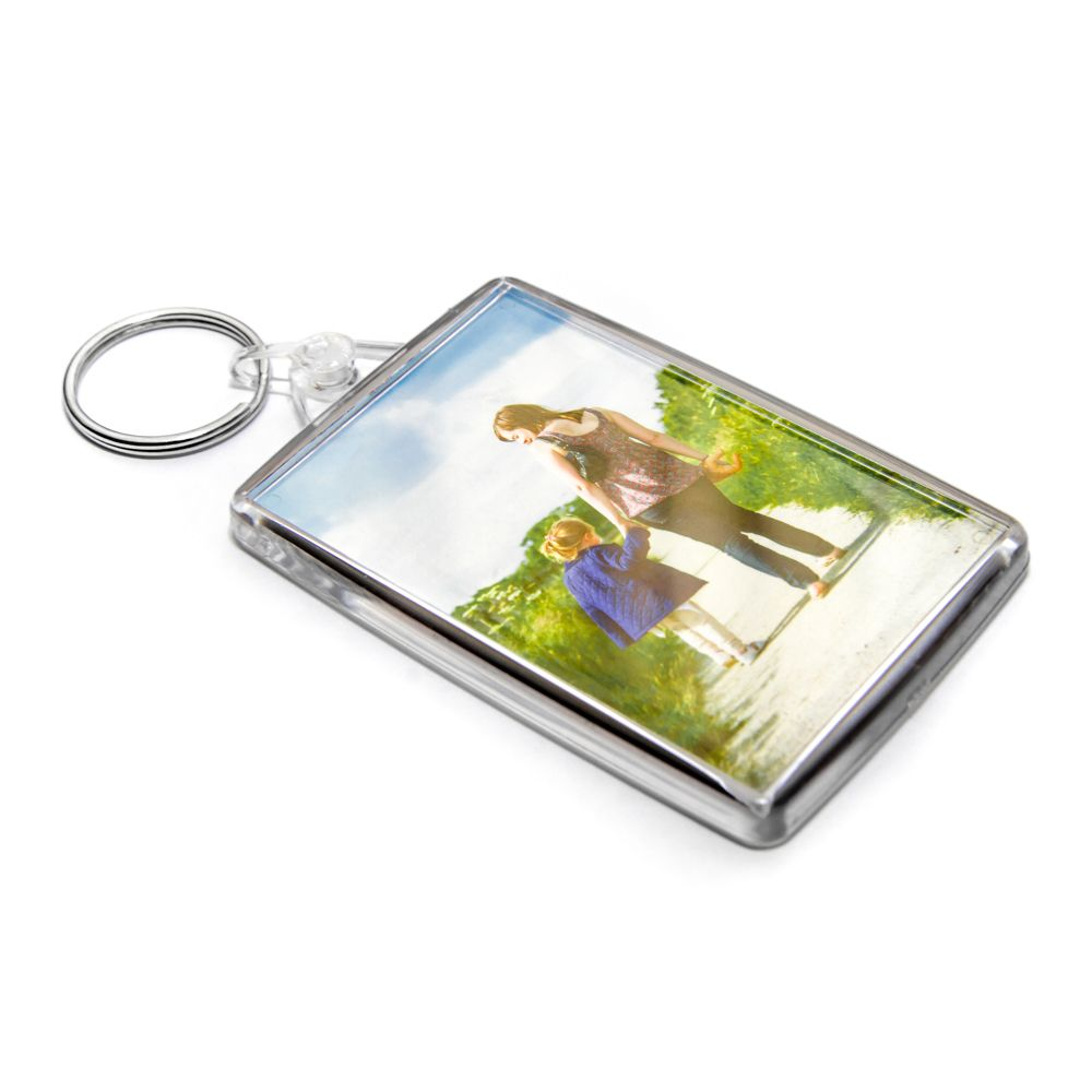 Large Double Sided Photo Keyring